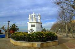 Dancers monument,Calella,Spain Stock Photo