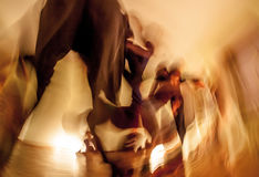 Dancers movement. Blurred, abstract, expressive royalty free stock photography