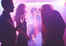 Dancers in nightclub Stock Photography
