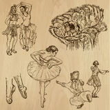 Dancers no. 4 - hand drawn collection, vector Royalty Free Stock Image