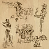 Dancers no.5 - hand drawn collection, vector Royalty Free Stock Images