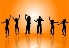 dancers orange Στοκ φωτογραφία με δικαίωμα ελεύθερης χρήσης