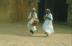 Dancers at the Ouida Kasbah Rabat Stock Photos
