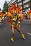 Dancers from the Paraiso School of Samba float Stock Image