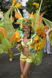 Dancers from the Paraiso School of Samba float Stock Images