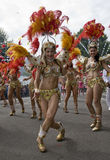 Dancers from the Paraiso School of Samba float Stock Photography