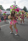 Dancers from the Paraiso School of Samba float Royalty Free Stock Images