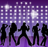 dancers party singers διανυσματική απεικόνιση