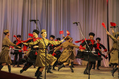 Dancers perfomance Royalty Free Stock Images