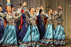 Dancers perfomance Royalty Free Stock Photo