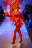 Dancers perform on the runway during Luli Fama show at Luli Fama during MBFW Swim 2015 Stock Image
