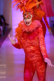 Dancers perform on the runway during Luli Fama show at Luli Fama during MBFW Swim 2015 Royalty Free Stock Photo