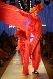Dancers perform on the runway during Luli Fama show at Luli Fama during MBFW Swim 2015 Royalty Free Stock Photos