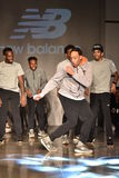 Dancers perform on runway at New Balance Fall/Winter 2016 Runway Dance Party during petiteParade Stock Image