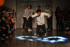 Dancers perform on runway at New Balance Fall/Winter 2016 Runway Dance Party during petiteParade Royalty Free Stock Photos