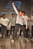 Dancers perform on runway at New Balance Fall/Winter 2016 Runway Dance Party during petiteParade Royalty Free Stock Image