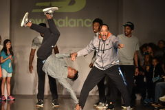 Dancers perform on runway at New Balance Fall/Winter 2016 Runway Dance Party during petiteParade Stock Photography