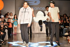 Dancers perform on runway at New Balance Fall/Winter 2016 Runway Dance Party during petiteParade Royalty Free Stock Photo