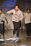 Dancers perform on runway at New Balance Fall/Winter 2016 Runway Dance Party during petiteParade Stock Photo