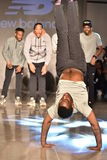 Dancers perform on runway at New Balance Fall/Winter 2016 Runway Dance Party during petiteParade Stock Images