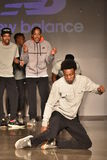 Dancers perform on runway at New Balance Fall/Winter 2016 Runway Dance Party during petiteParade Stock Photos
