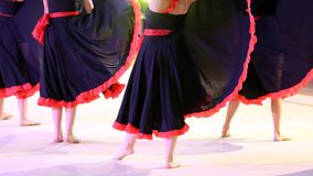Dancers during the performance of flamenco dancing in Spain Stock Photo