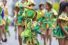 Dancers performing for the carnival opening of Salta, Argentina Stock Photos