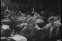 Dancers performing provocative routine in New York City nightclub, 1930s stock video