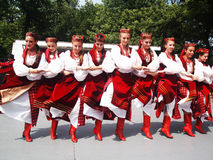 Dancers. Picture of the  dancers in traditional ukrainian costumes   at the festival in Yonkers, NY Royalty Free Stock Image