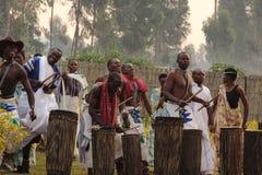 Dancers. Dancers preform for vistors in  Rwanda Royalty Free Stock Image