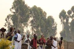 Dancers. Dancers preform for vistors in  Rwanda Royalty Free Stock Photos