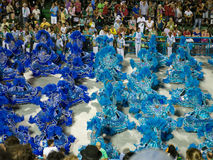 Dancers, Rio Carnival. Dancers in blue costumes at Rio Carnival, Brazil Stock Photography