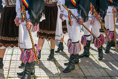 Dancers from Romania in traditional costume Stock Photo