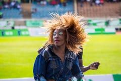 Dancers at Safaricom Sevens 2014 Stock Photo