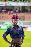 Dancers at Safaricom Sevens 2014 Royalty Free Stock Photo