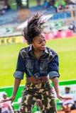 Dancers at Safaricom Sevens 2014 Royalty Free Stock Photos