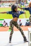 Dancers at Safaricom Sevens 2014 Stock Images