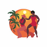 Dancers of salsa Royalty Free Stock Photo