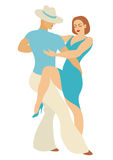 Dancers of salsa. Lady and gentleman dance Latin America dance salsa Royalty Free Stock Image