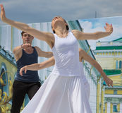 Dancers on a scene Stock Images