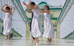 Dancers on a scene Stock Image