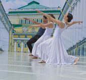 Dancers on a scene Stock Photo