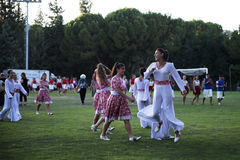 Dancers after the show in Karmiel festival Royalty Free Stock Photography