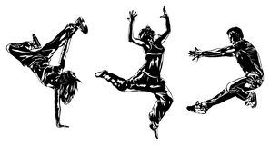 Dancers silhouettes Stock Image