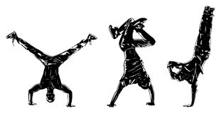 Dancers silhouettes Stock Images
