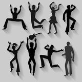 Dancers, singers man, woman set Stock Photography