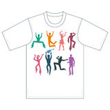 Dancers, singers, tshirt design Royalty Free Stock Photos
