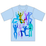 Dancers, singers, tshirt design Stock Photos