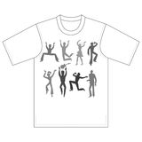Dancers, singers, tshirt design Royalty Free Stock Images