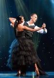 Dancers in spotlight Royalty Free Stock Photo